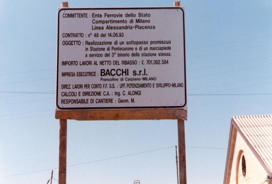 05B - Il Cartello per la stazione di Ponte Curone