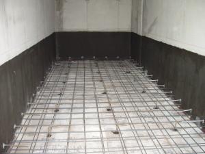Interno di un box prima del getto di protezione del pannello bentonitico