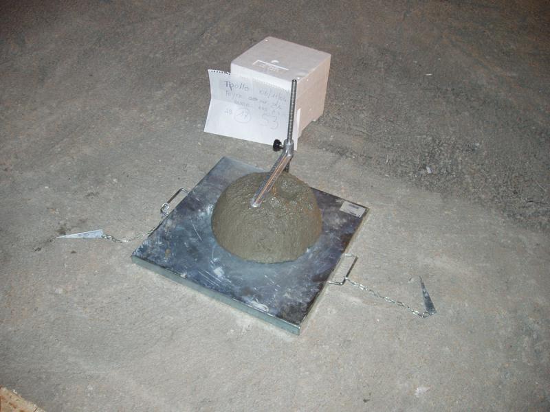 12E - controllo del calcestruzzo; prelievo più slump test