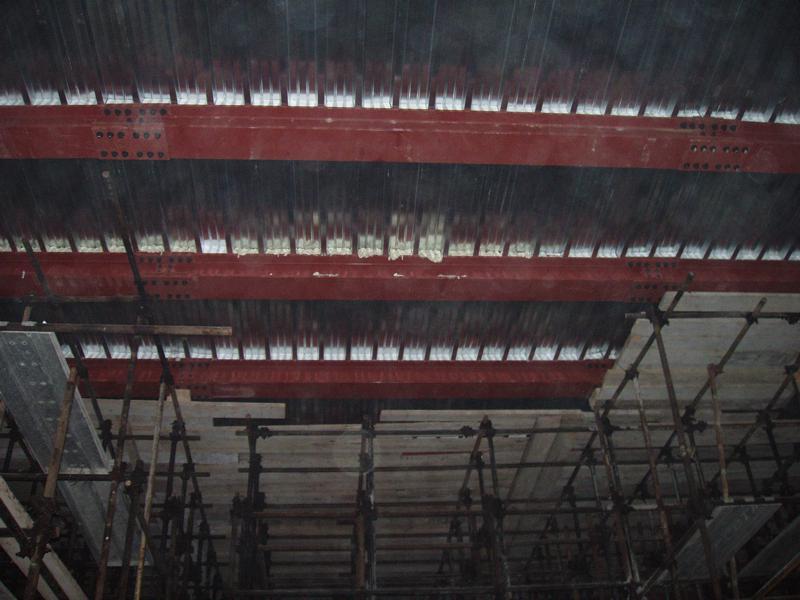 12F - Il solaio del Foyer visto dal di sotto