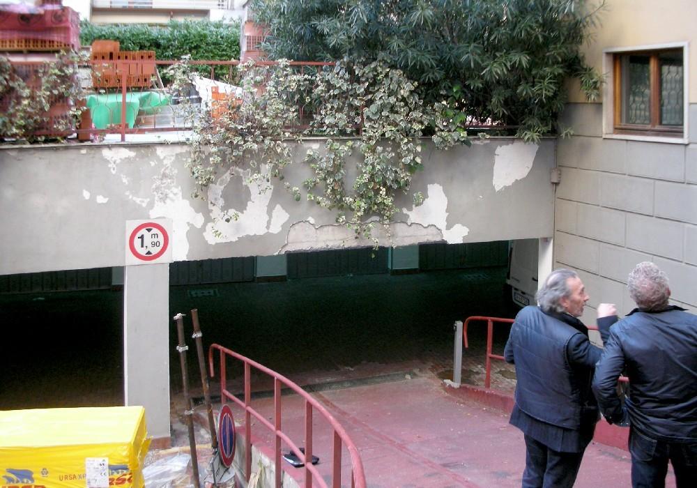 15A - ingresso ai posti auto prima dell'intervento