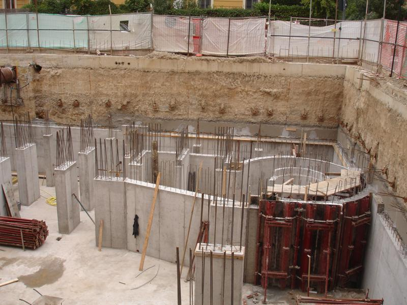 18F - Muri e pilastri al secondo interrato