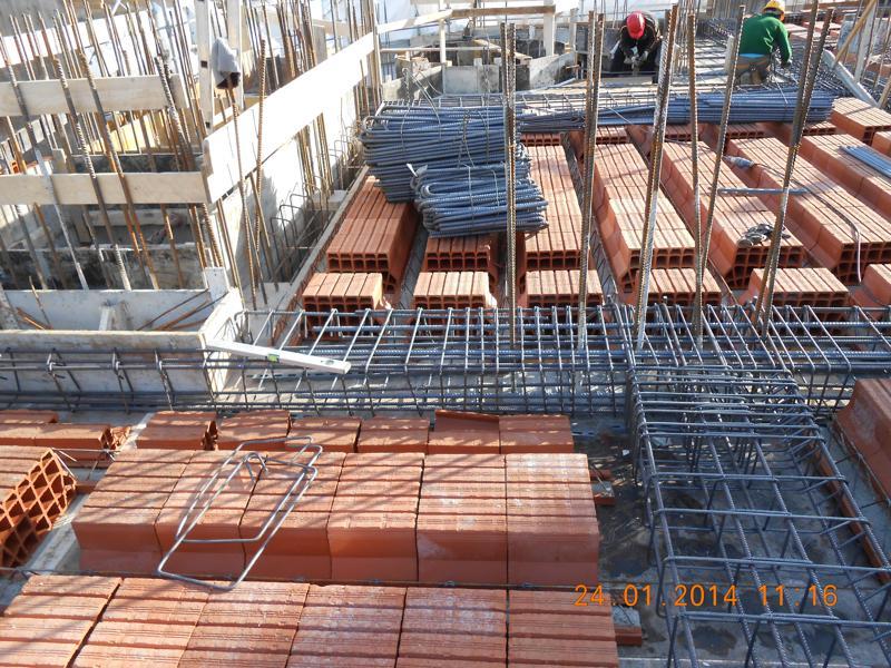 18H - Fase di preparazione del solaio del terzo piano